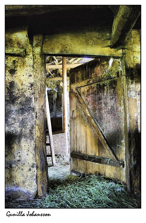 inside a hay barn