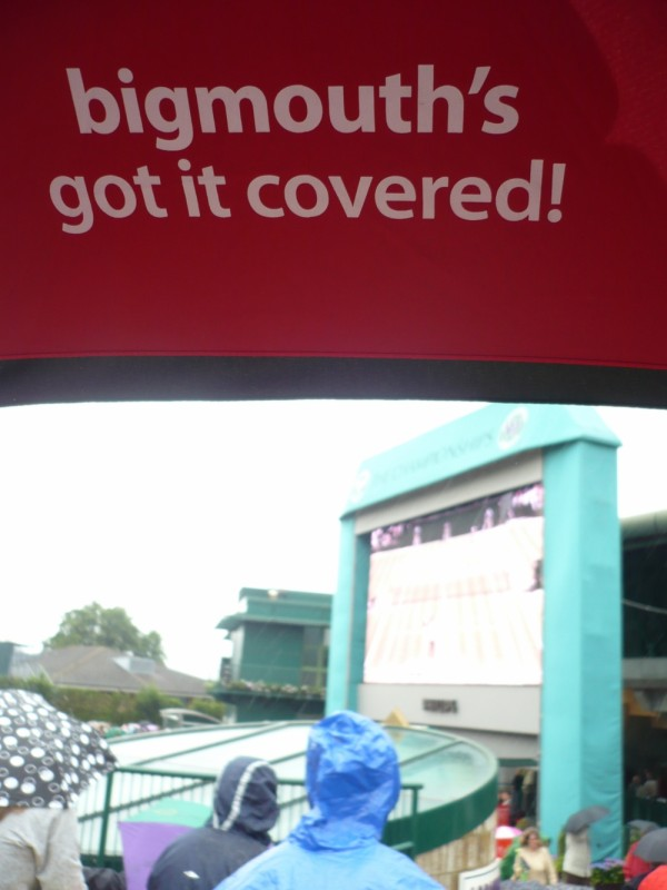 Wimbledon 2008 from below a bigmouthmedia brolly