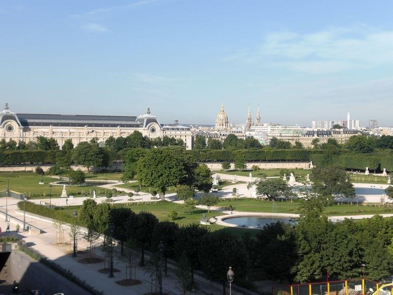Jardin des Tuileries as seen from the Hotel Regina