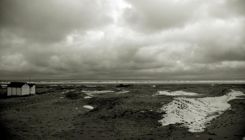 Neige sur la plage du touquet