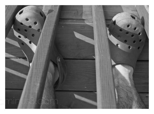 Self-Portrait in Crocs