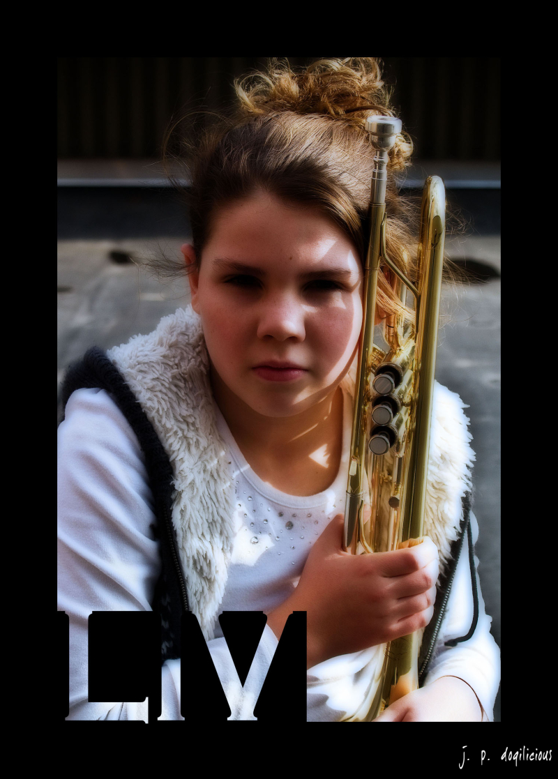Girl With Trumpet