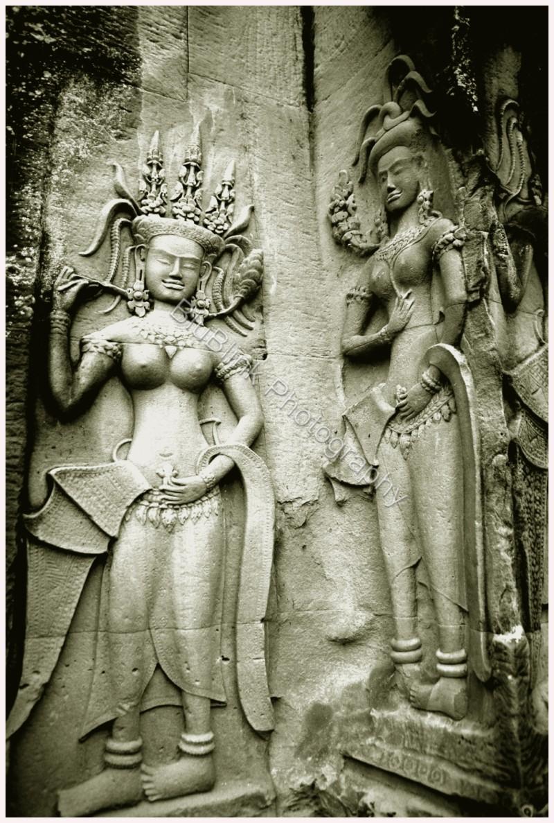 Nude bas-relief of Angkor Wat Apsaras