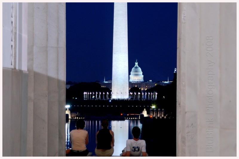 Washington DC Monuments evening