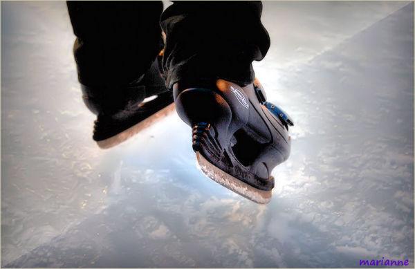 Ice roller skates ...