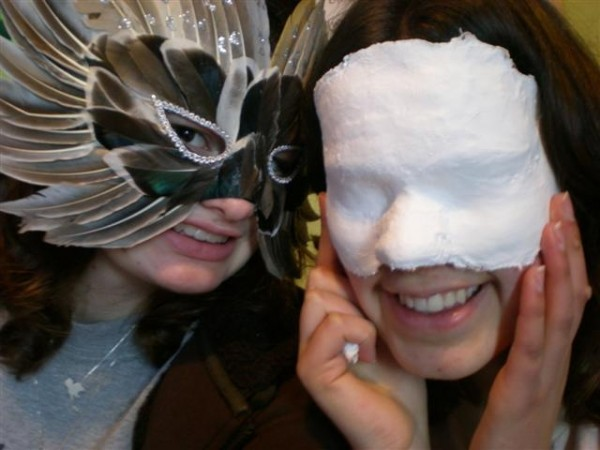 Me and Kati don our sexy masks