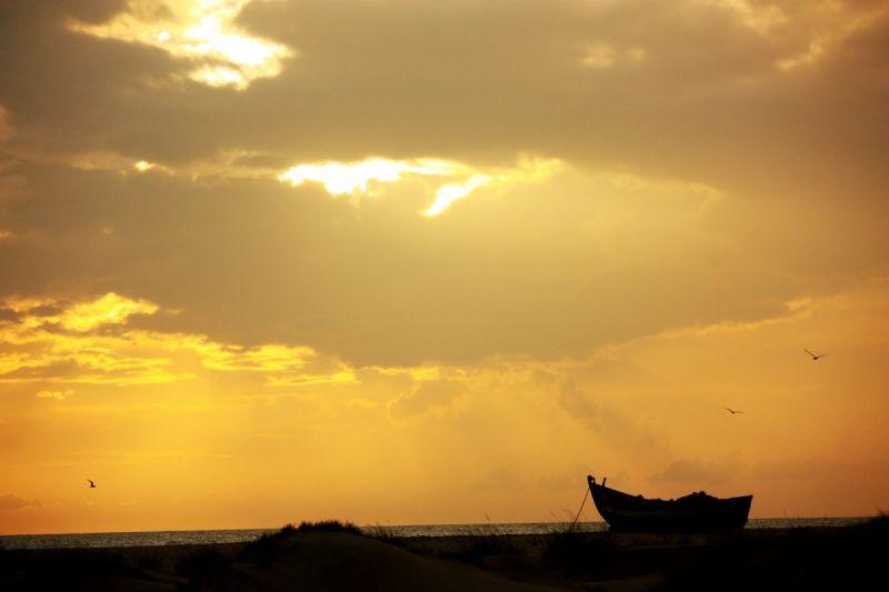 A wonderful sunset at Dhanushkodi