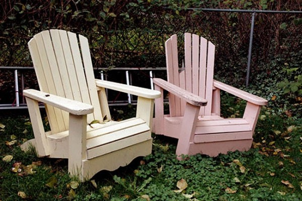 adarondak chairs in the back yard