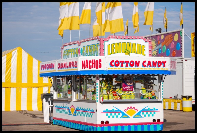 Food vendor booth at a carnival