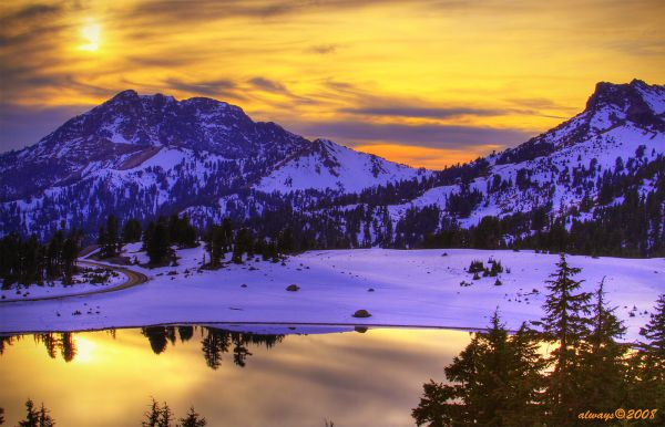 Sunset in Lassen Volcanic National Park