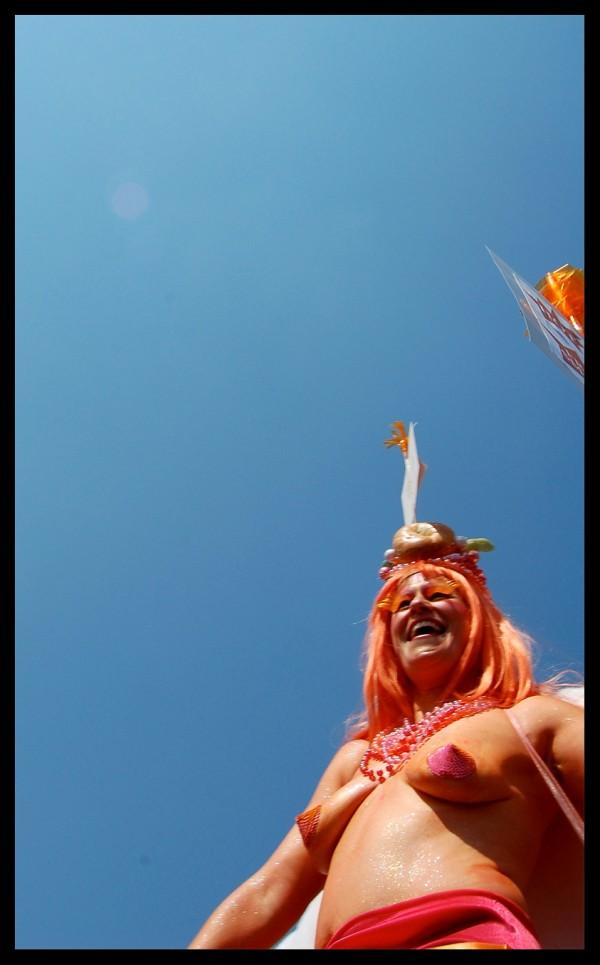 2008 Coney Island Mermaid Parade Breasts Orange