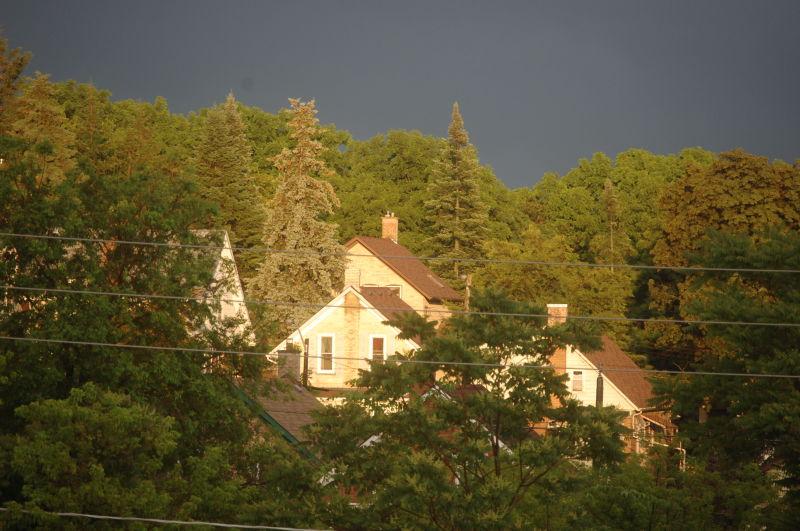 Surreal post storm sun reflections