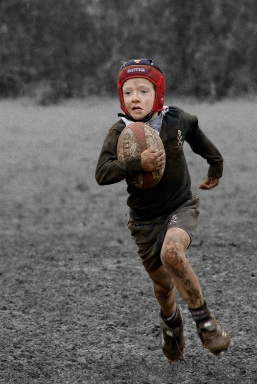 The rugby player