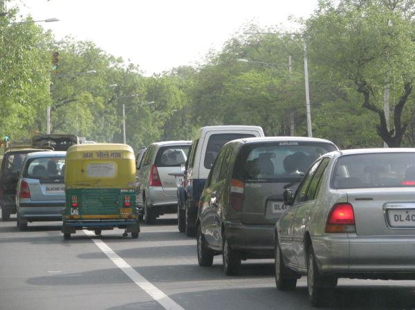 A road in New Delhi