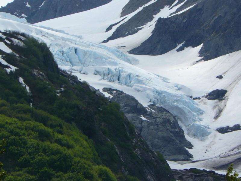 A land-locked glacier in Alaska