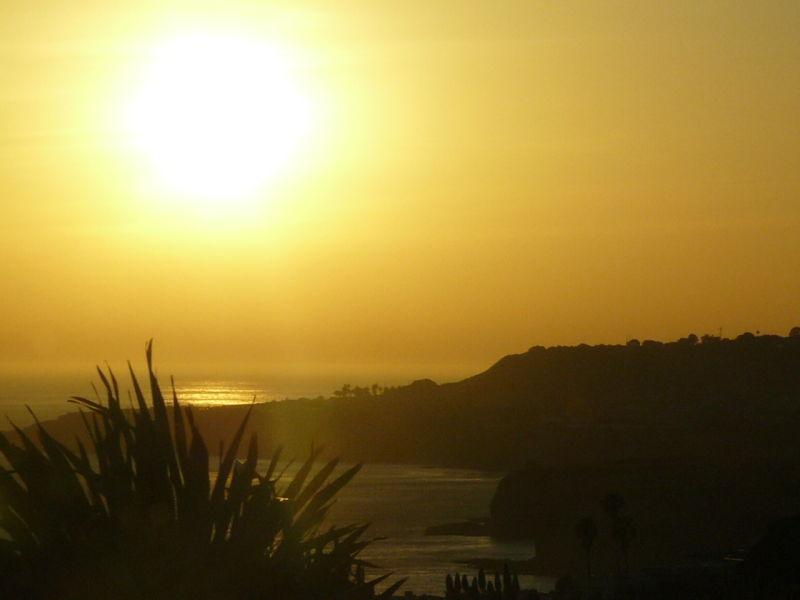 Yellow Sky Sunset Rancho Palos Verdes California
