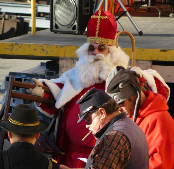 DWP 2007 Christmas Party Santa Confederate Soldier