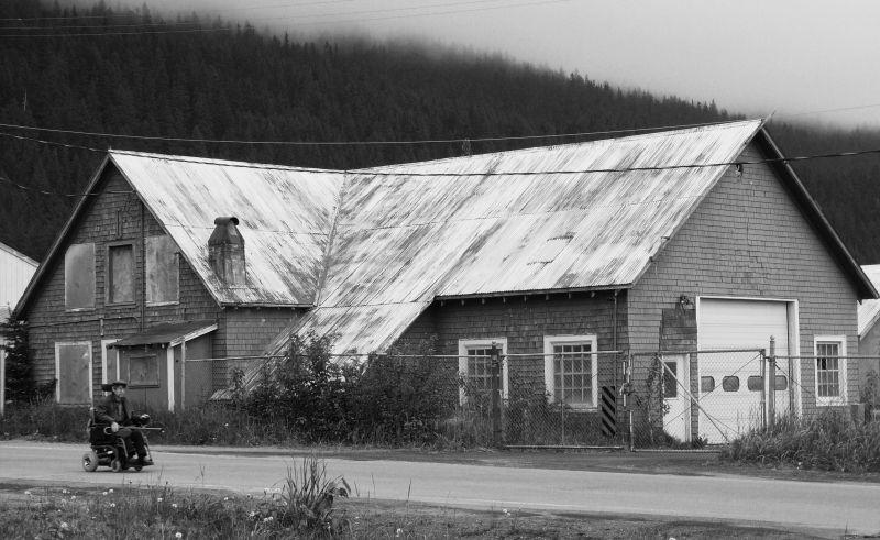 Wheeling down the empty road in Seward Alaska