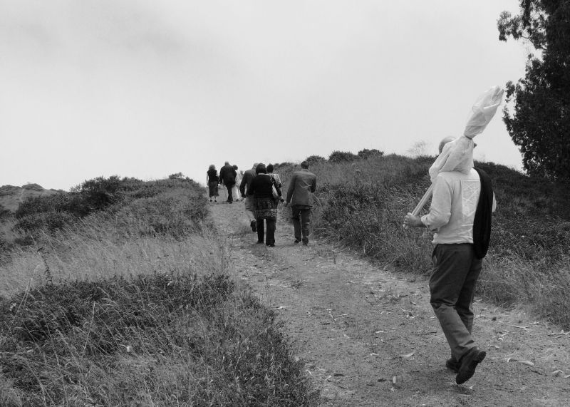 Recessional path from a Marin Headlands  Wedding