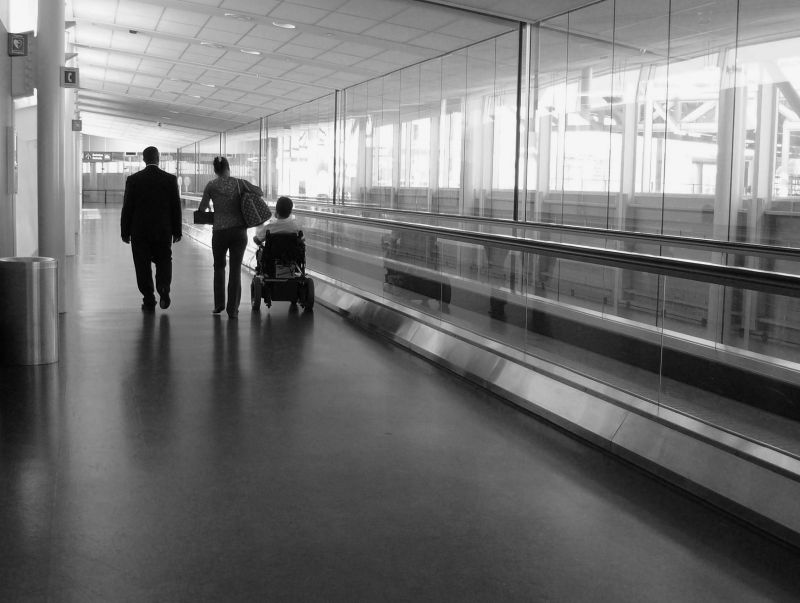 Passengers in Exit Way at the Montreal Airport