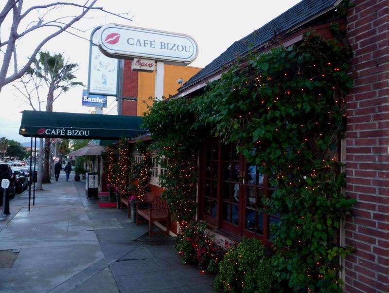 Cafe Bizou on Ventura Blvd in Sherman Oaks