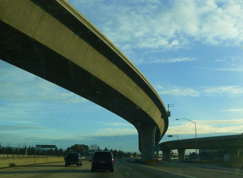 Freeway overpass in Northern California