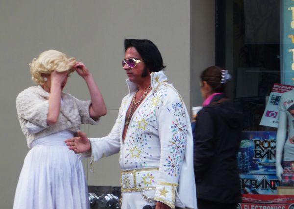 Movie Star Impersonators on Hollywood Blvd.