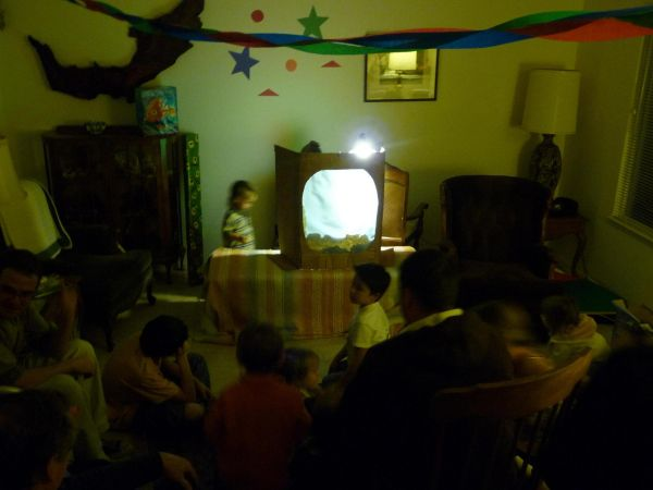 Shadow Puppet Show at Kumele's Birthday Party