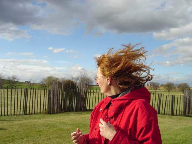 Windy day at Aztalan Mounds Wisconsin