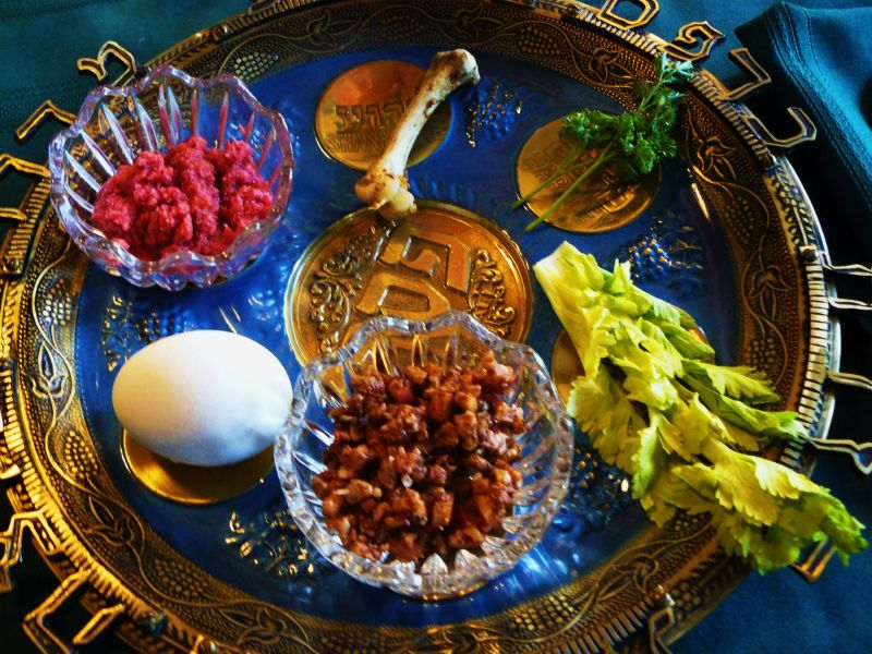 Sederplate on Passover