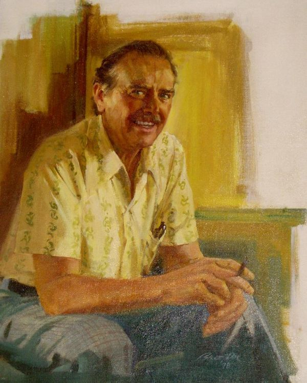 Portrait of Ray Sederberg by painter Bart Doe