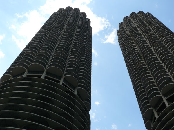 two of the round towers in Chicago