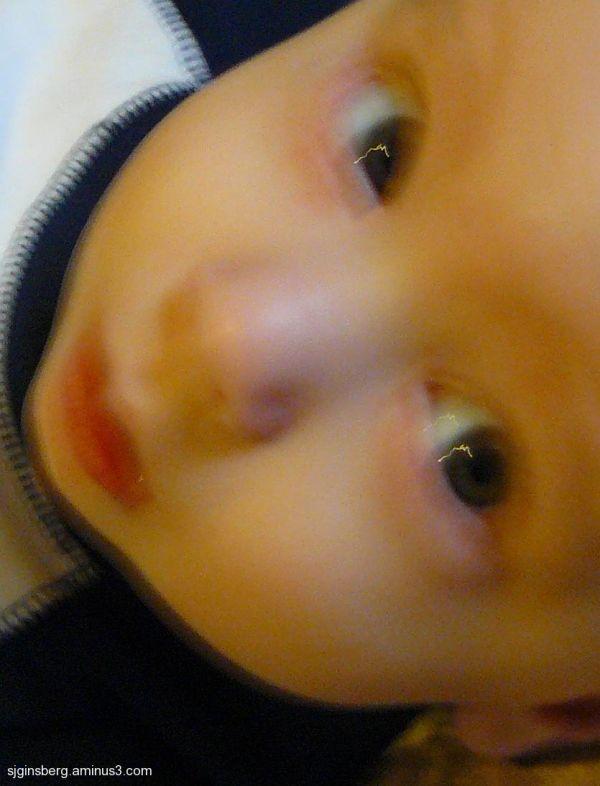 Liam close-up eyes