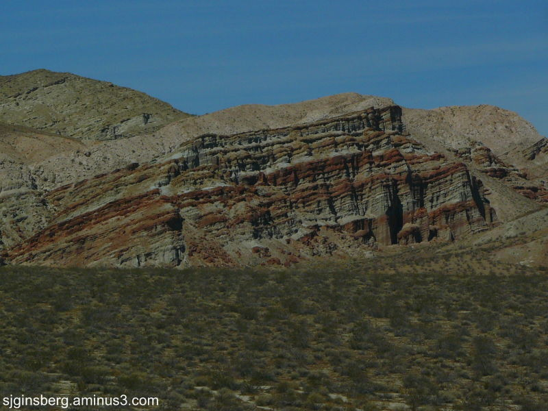 Rock formations at Red Rock Canyon State Park Cali