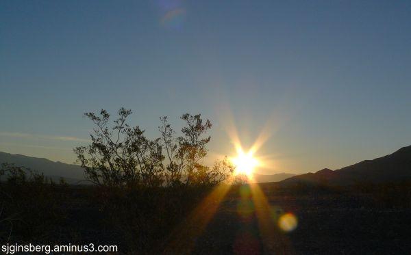 Star of David in the desert sky