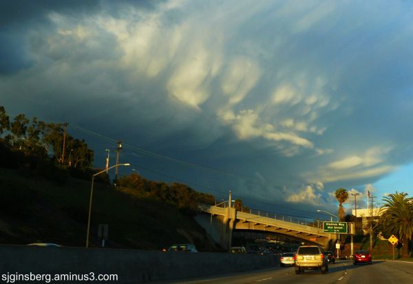 Cloudbank over Los Angeles Freeway