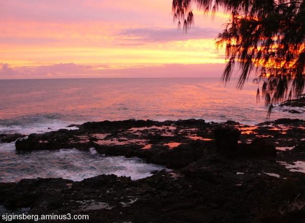 Sunset at Spouting Horn, Kauai, Hawaii