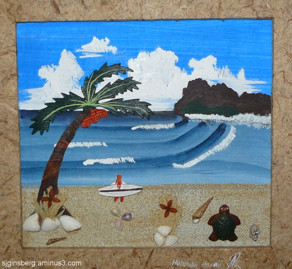 Kitchy Island art Kauai Hawaii Condo