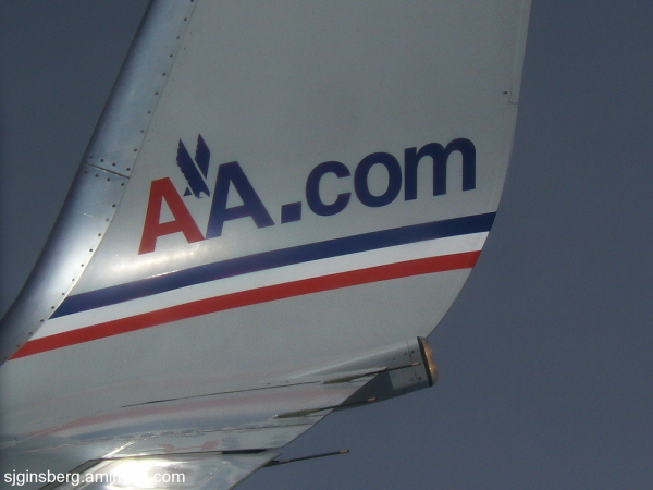 Logo of American Airlines plane