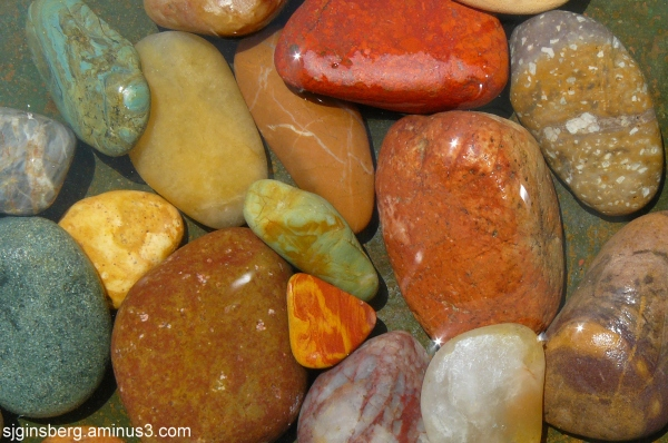 colorful stones underwater