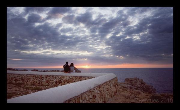 Night falls over Menorca