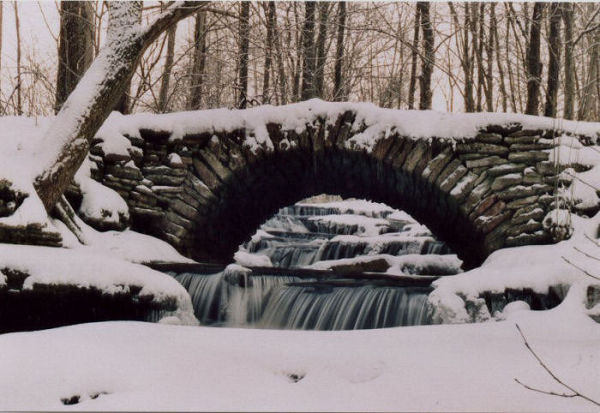 Bridge over all water falls