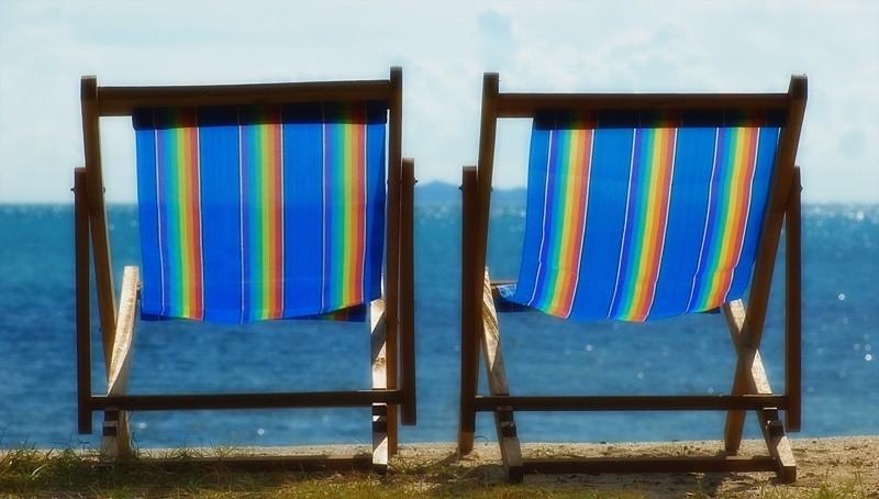 standstoel beachchair beach Koh Samui