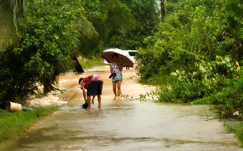 Flooding Koh Samui Thailand overstroming
