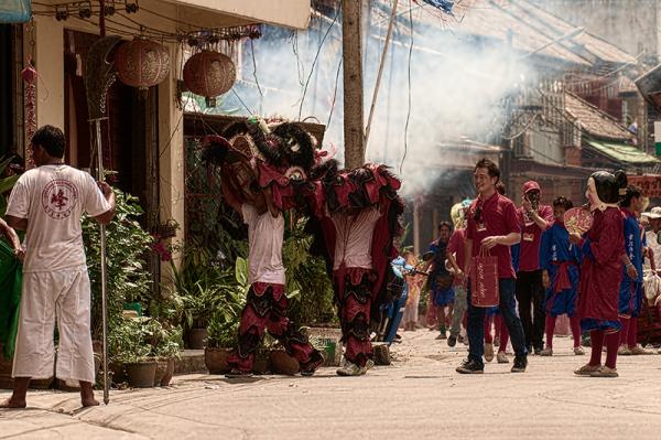 Lion Dance Chinese New Year 2013 Nathon, Koh Samui