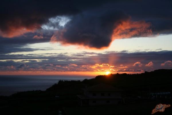 Panorama Açores Tramonto Rosso