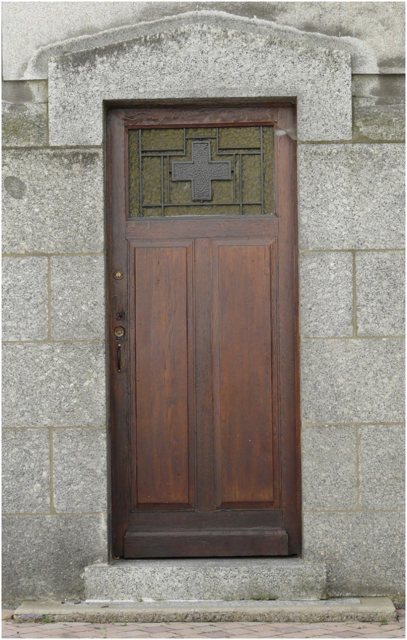 The old church's door