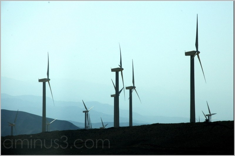 wind driven power plant
