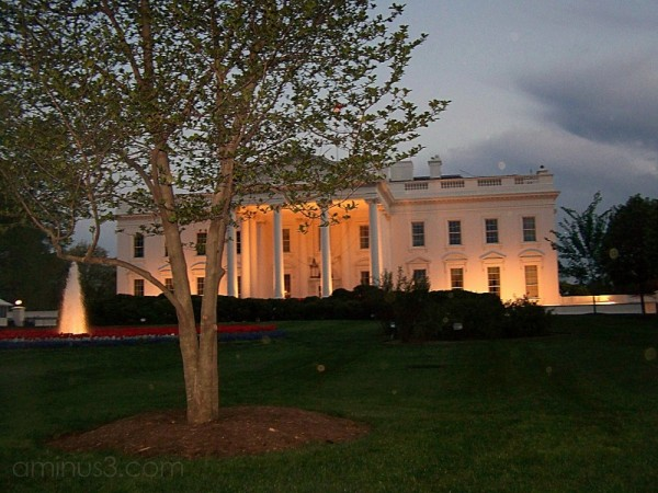 The White House by Twilight