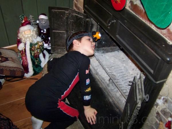 Jonathan looking for Santa
